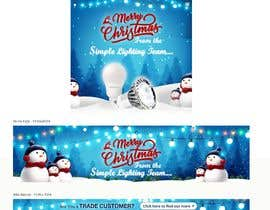 #35 untuk Christmas Day Themed Banner set for our website oleh satishandsurabhi