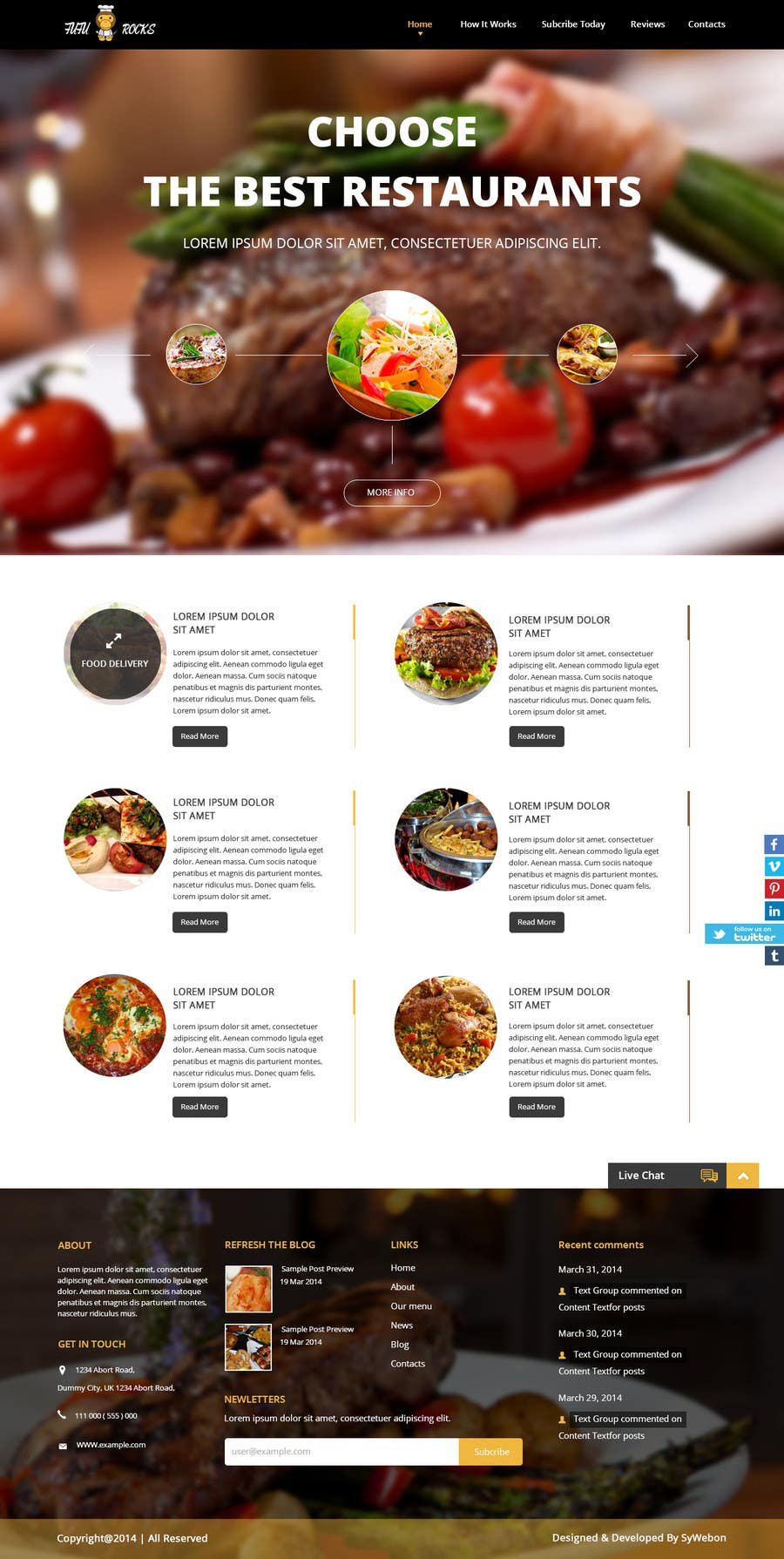 Entry 46 By Syrwebdevelopmen For Design A Website Template For