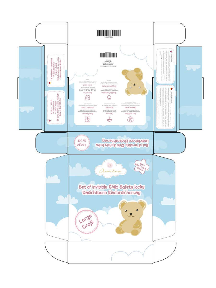 create product packaging design for child safety locks