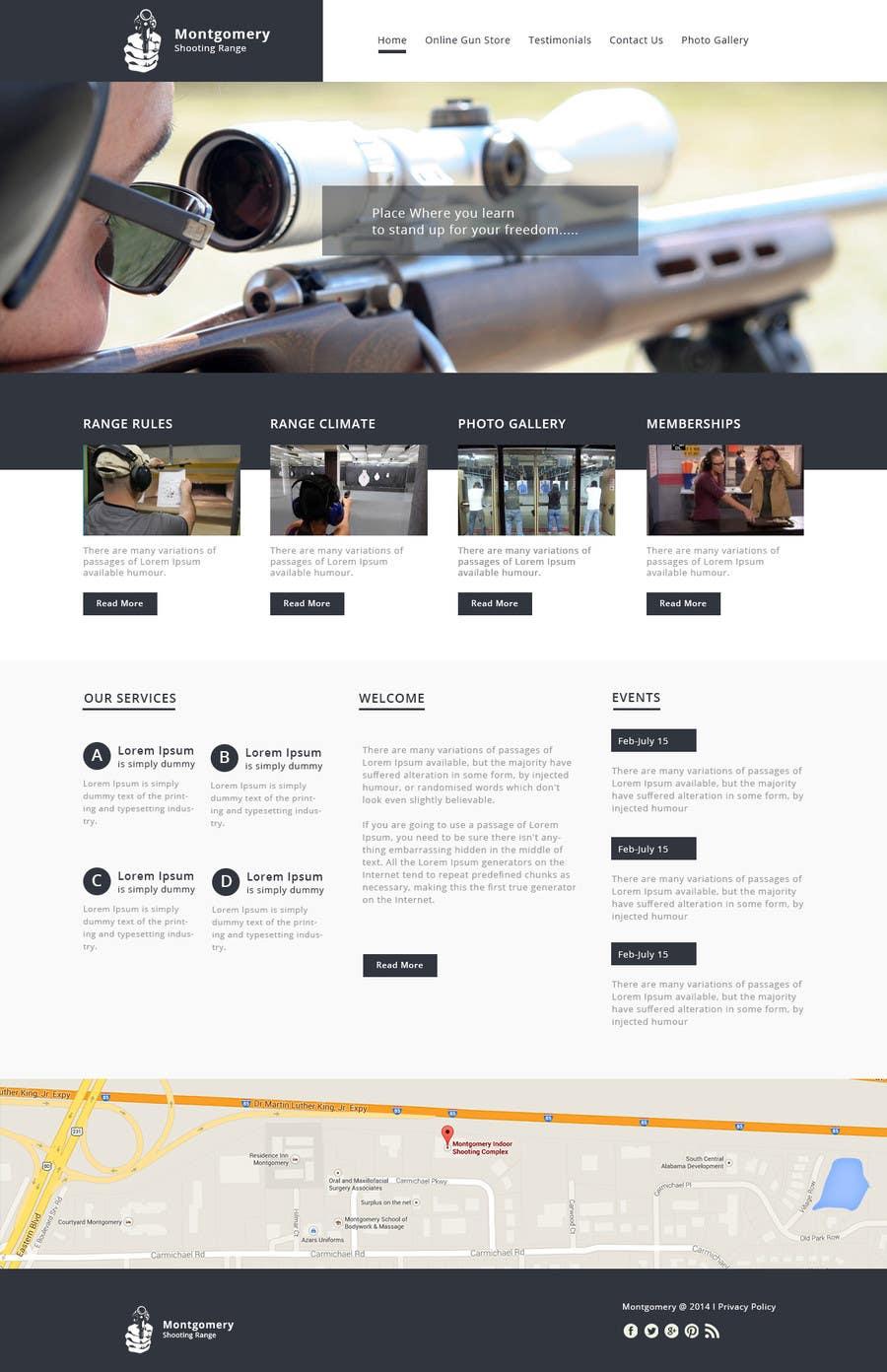 Penyertaan Peraduan #                                        7                                      untuk                                         Design a Website Mockup for Shooting Range