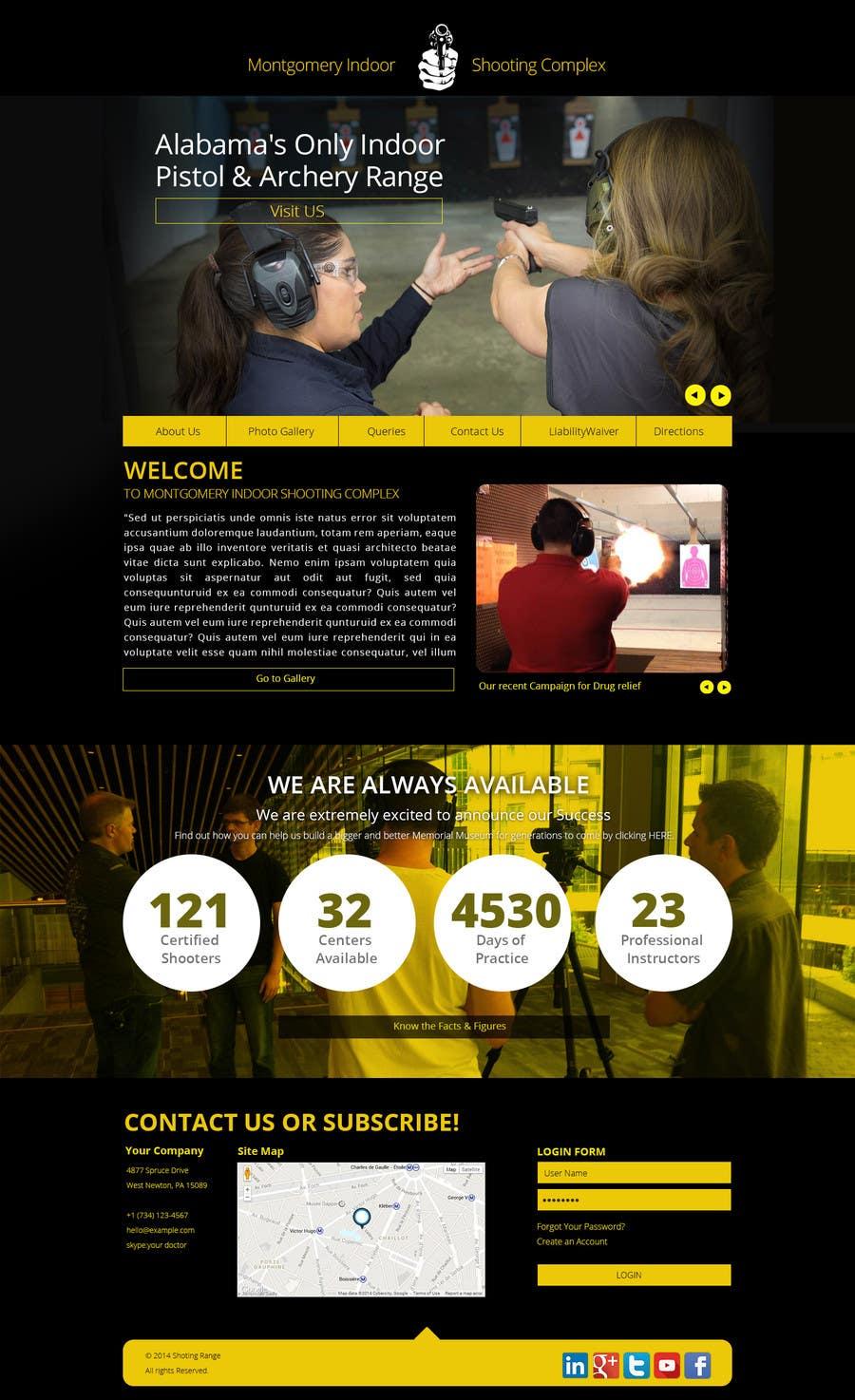 Penyertaan Peraduan #                                        16                                      untuk                                         Design a Website Mockup for Shooting Range