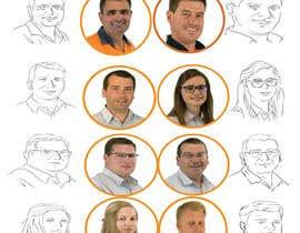 #6 untuk Cartoon drawing of 12 x small portrait photos. oleh dnniwawa01