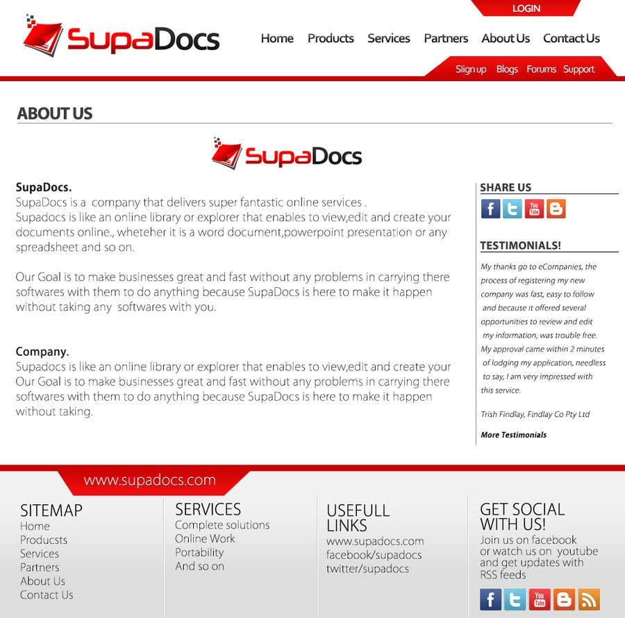 Konkurrenceindlæg #6 for Website Design for SupaDocs
