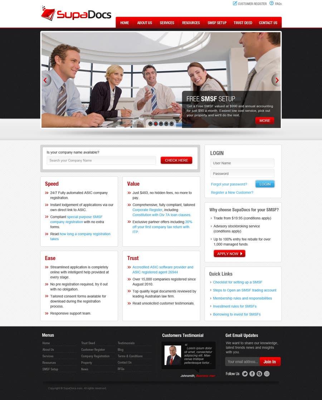 Konkurrenceindlæg #3 for Website Design for SupaDocs