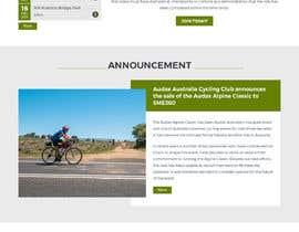 pixelwebplanet tarafından Design a Cycling Club Website Mockup için no 28