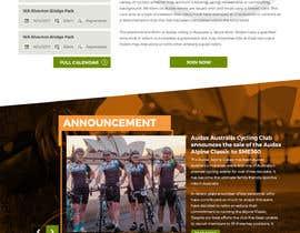 pixelwebplanet tarafından Design a Cycling Club Website Mockup için no 39