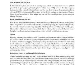 selormconstan tarafından Write some Articles for a Blog: Fitness/Motivation için no 1
