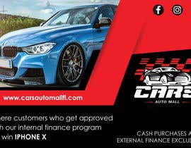 #7 for Create a promotion ad. artwork for Cars auto mall Florida af parulgupta549