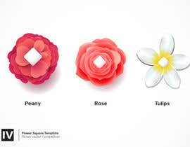 #15 untuk I need some graphics designed - individual flower petals with square base on bottom for svg / flower project oleh Nazriv