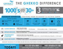 #61 per Design a one page sales brochure for Ghekko - a technology company da yulika2003
