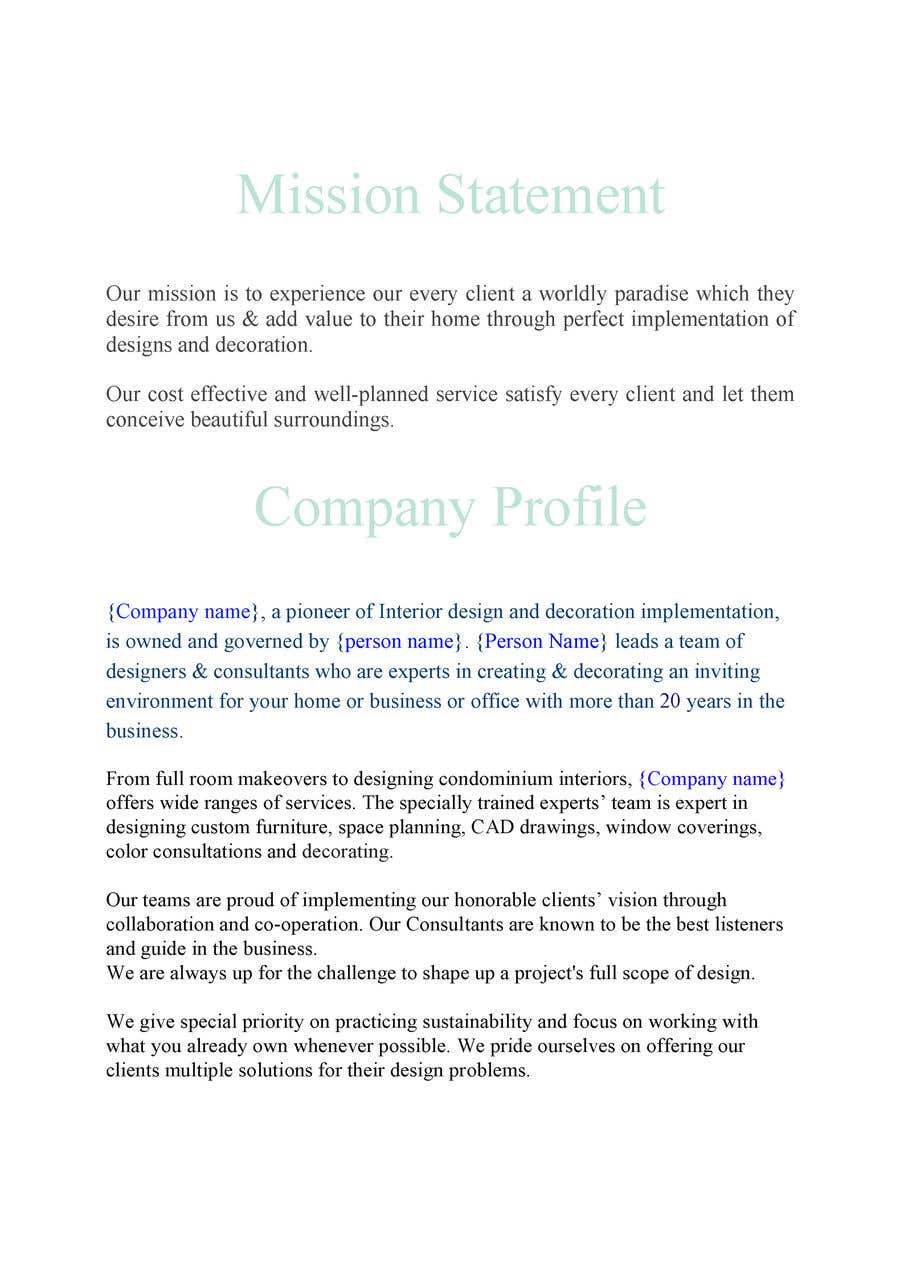 Entry #6 by SmartestLancer for Create a company profile