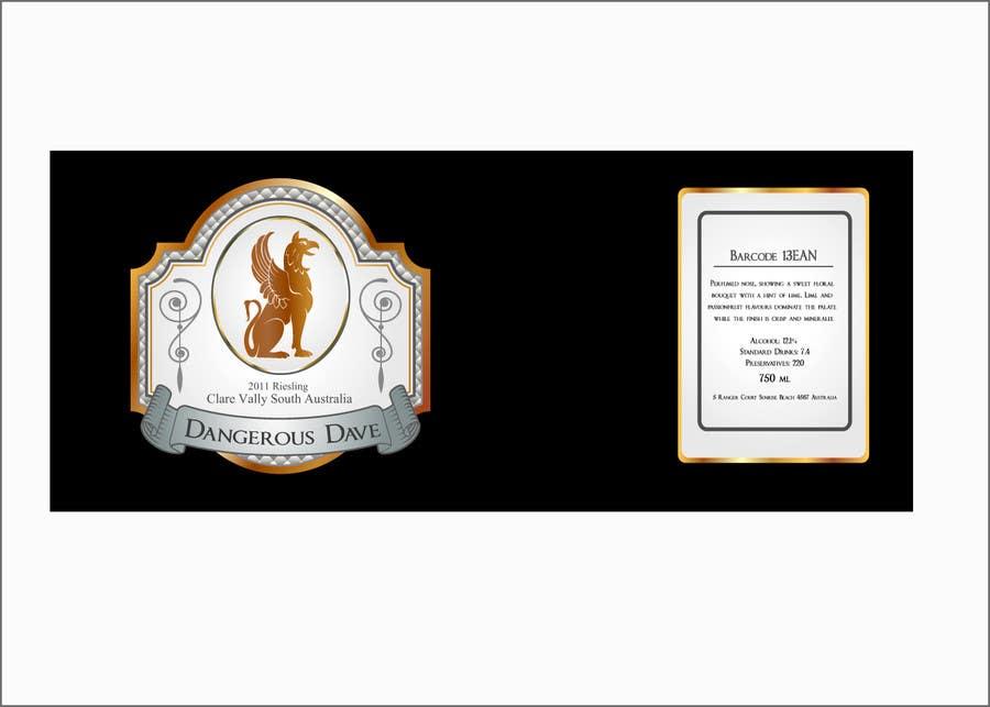 Konkurrenceindlæg #57 for Wine Label for Dangerous Dave