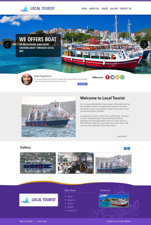 Penyertaan Peraduan #                                        8                                      untuk                                         Design a Website Mockup for local boat tourist tours