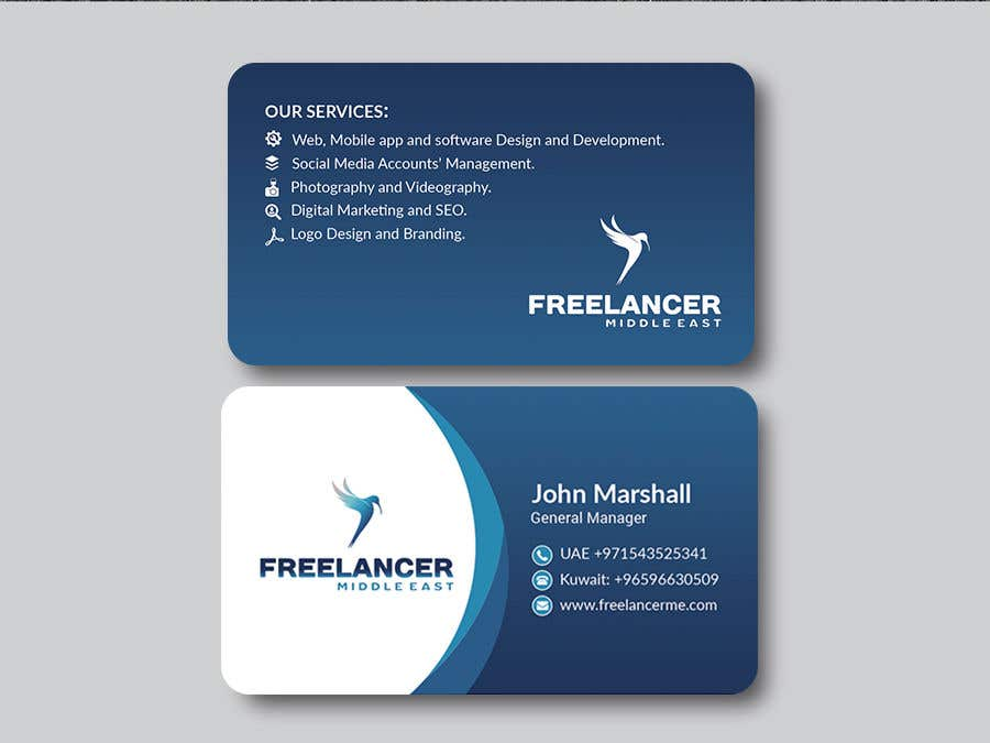 Entry #173 by nishat131201 for Design some Business Cards | Freelancer