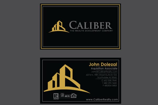 #49 for Business Card Design for Caliber - The Wealth Development Company by vanikhullar