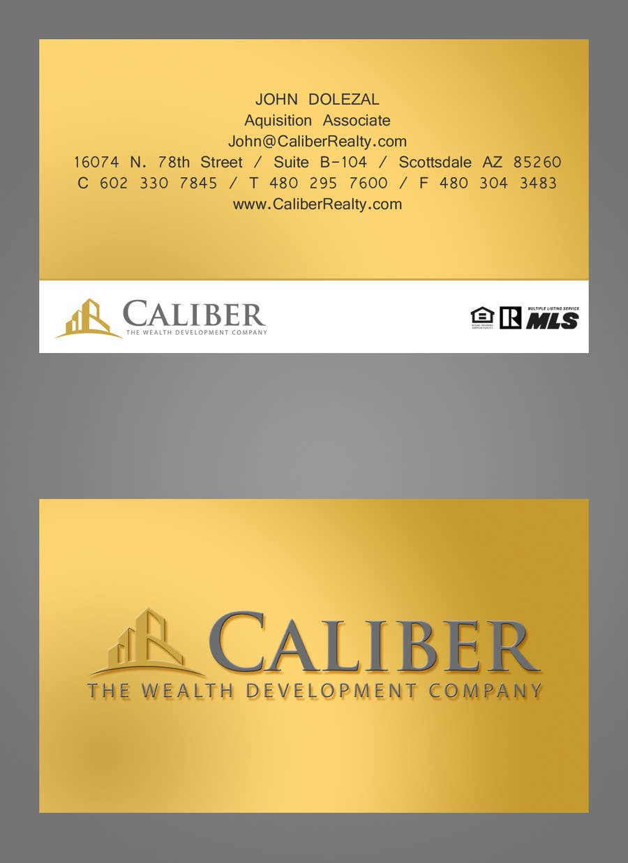 #34 for Business Card Design for Caliber - The Wealth Development Company by tkalinowski
