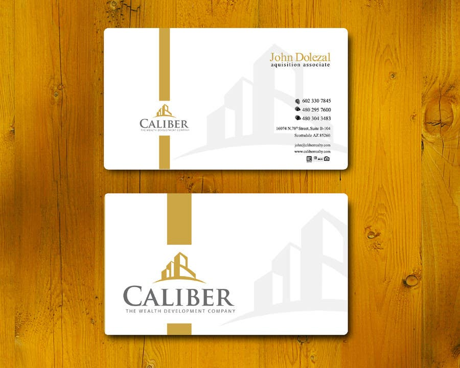 #24 for Business Card Design for Caliber - The Wealth Development Company by vigneshsmart
