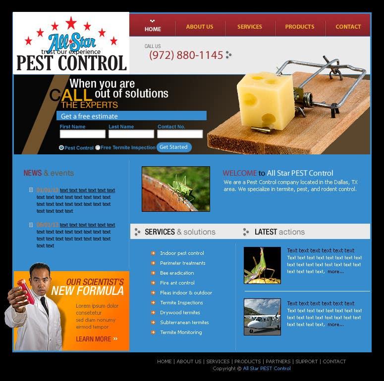Konkurrenceindlæg #29 for Website Design for All Star Pest Control
