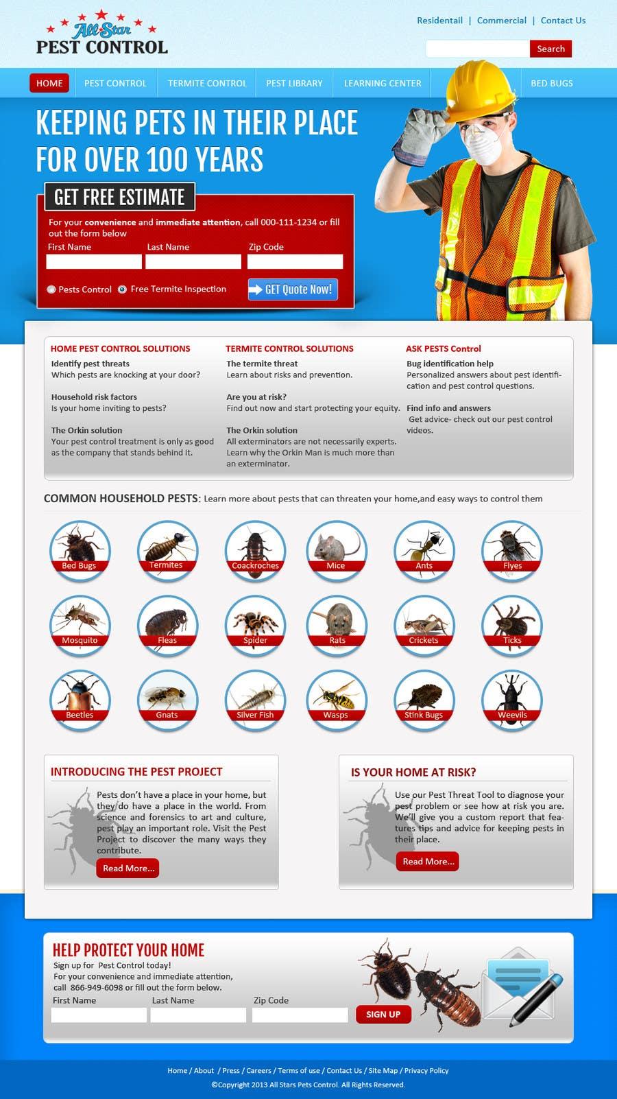 Konkurrenceindlæg #9 for Website Design for All Star Pest Control