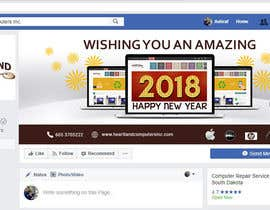 #69 for Design 2018 New Year Facebook Cover Page by siambd014
