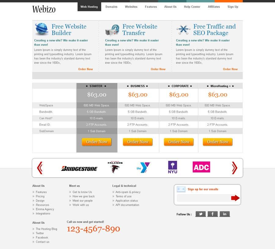 Proposition n°                                        22                                      du concours                                         Website Design for Webizo (Webizo.com)