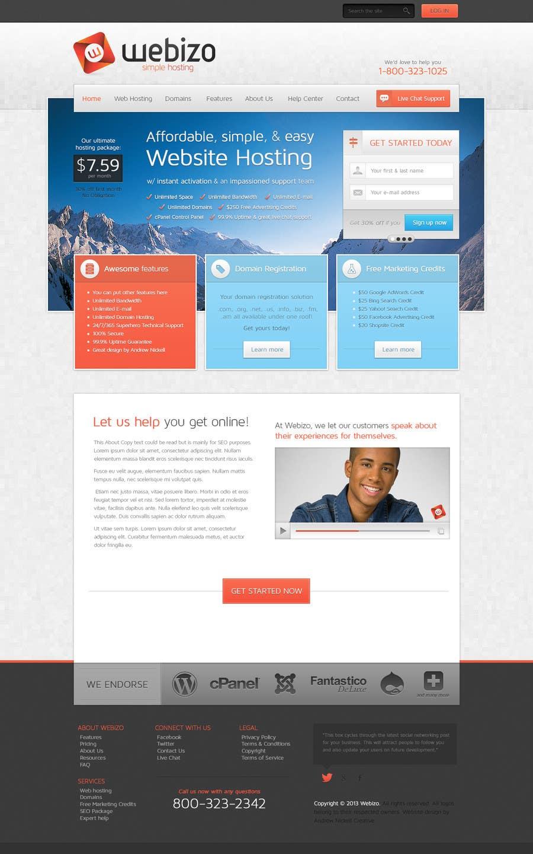 Proposition n°                                        30                                      du concours                                         Website Design for Webizo (Webizo.com)