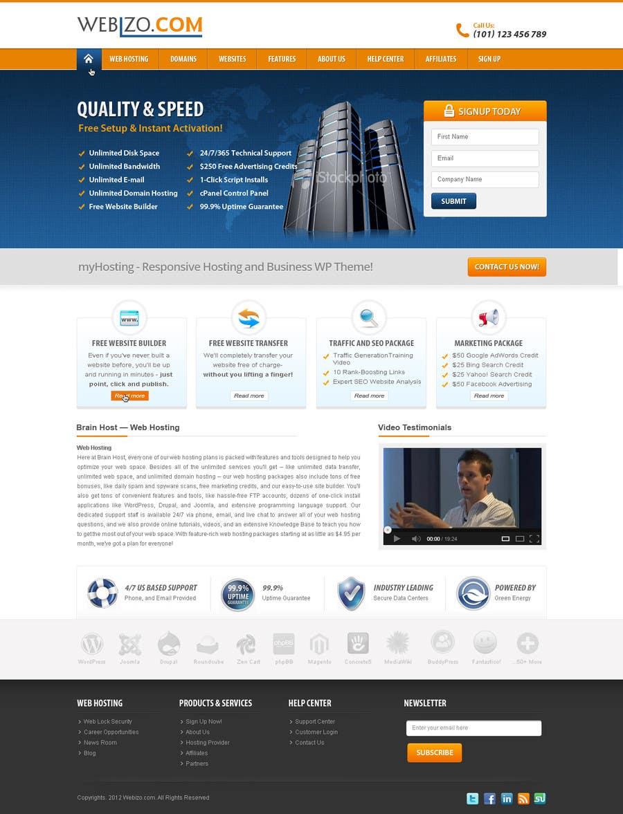 Proposition n°                                        16                                      du concours                                         Website Design for Webizo (Webizo.com)