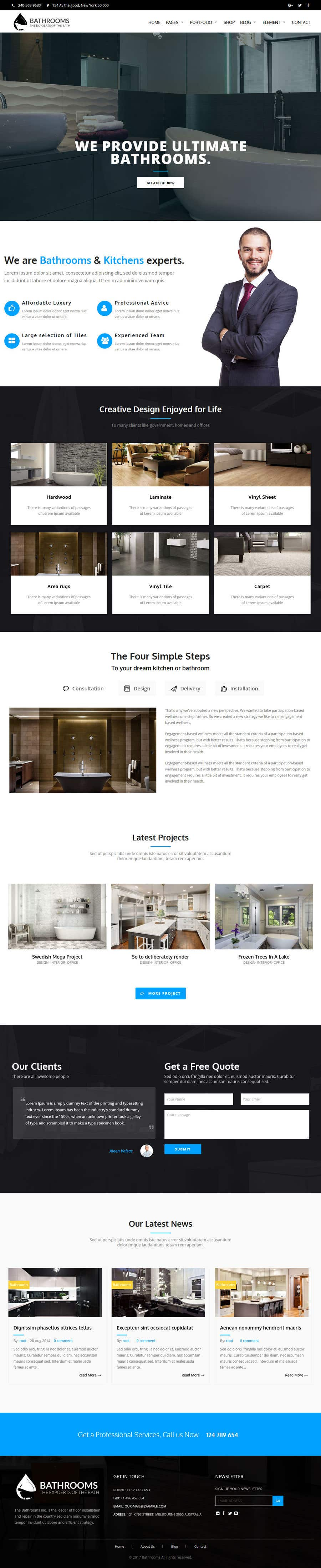 Entry #7 by Ammar619 for Design 3 mockup website pages for me for a ...