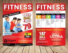 #62 for Design a Gym direct mail Flyer by ThroneStark