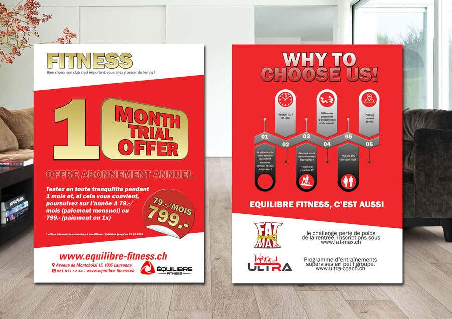 Contest Entry #15 for Design a Gym direct mail Flyer