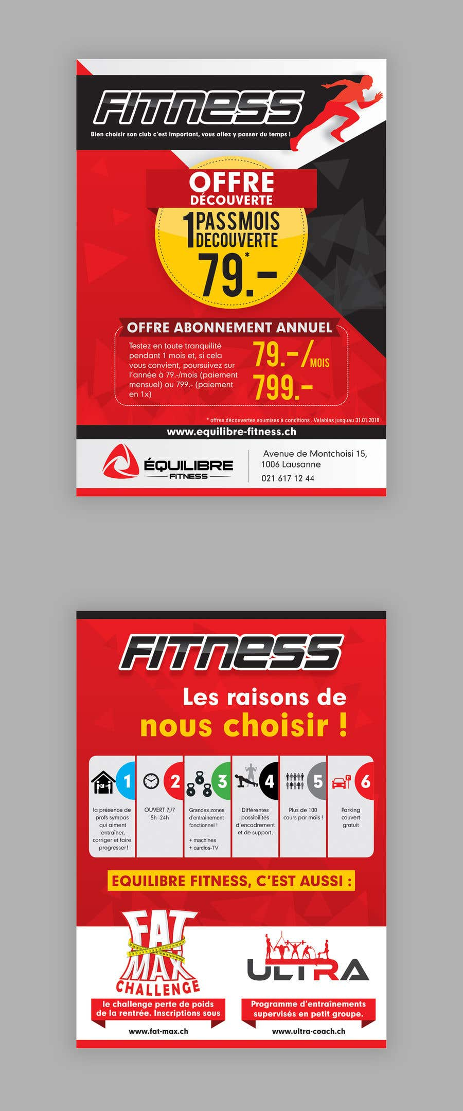 Contest Entry #79 for Design a Gym direct mail Flyer