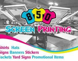 "maidang34 tarafından Design a 5"" x 7"" mailer for screen printing shop için no 4"