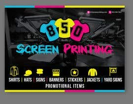 "satishchand75 tarafından Design a 5"" x 7"" mailer for screen printing shop için no 10"