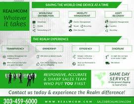 "#58 para Design a one page 8x10"" sales brochure for REALMCOM por yulika2003"