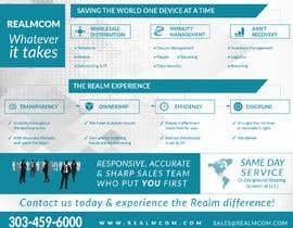 "#78 para Design a one page 8x10"" sales brochure for REALMCOM por yulika2003"
