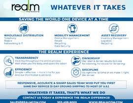 "#17 para Design a one page 8x10"" sales brochure for REALMCOM por Mohamedsaa3d"
