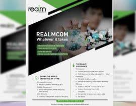 """#39 para Design a one page 8x10"""" sales brochure for REALMCOM por meenapatwal"""
