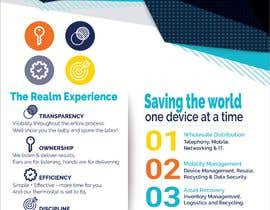 """#35 para Design a one page 8x10"""" sales brochure for REALMCOM por jericksonhatulan"""
