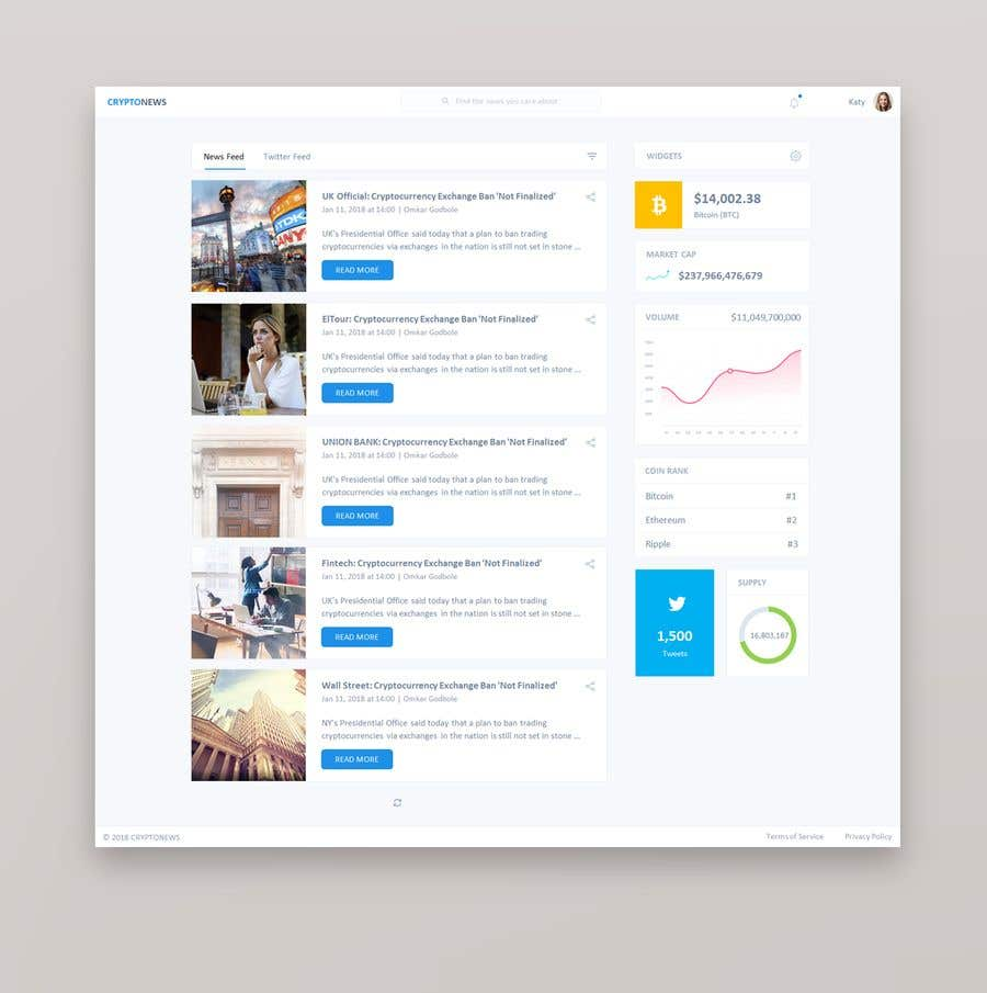 Entry #20 by HAR888 for Design a Cryptocurrency News Reader Web App