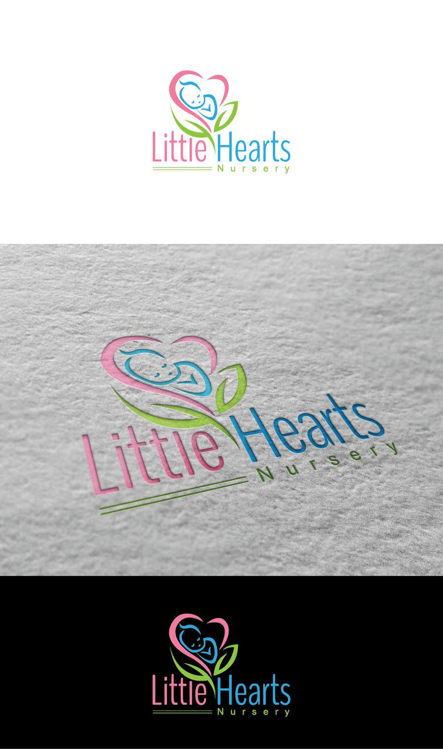 Contest Entry 8 For Little Hearts Nursery Logo