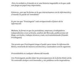 #8 for Translate script of promo video into Spanish by ThatGuyGGat