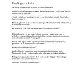 #17 for Translate script of promo video into Spanish by frankelypollo