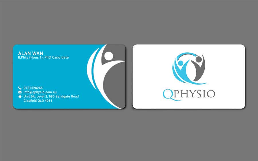 Entry 66 by ershad0505 for clean minimal physiotherapy business clean minimal physiotherapy business cards reheart Gallery