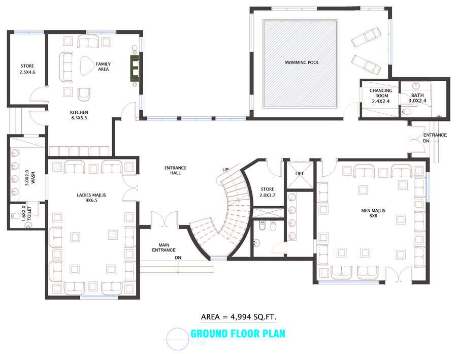 Entry #95 by OmarAbdalmajid for House and Landscaping ... on interior design board layout, interior design plan view, interior design flowchart, interior design block diagram,