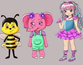 Nro 10 kilpailuun CUTE 2D Character Design of a girl, elephant and bee! (2D ONLY, FULL COLOR, CARTOON) käyttäjältä Shojaie1985