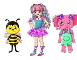 Nro 16 kilpailuun CUTE 2D Character Design of a girl, elephant and bee! (2D ONLY, FULL COLOR, CARTOON) käyttäjältä Shojaie1985