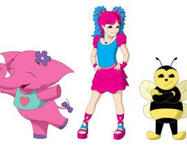 Nro 23 kilpailuun CUTE 2D Character Design of a girl, elephant and bee! (2D ONLY, FULL COLOR, CARTOON) käyttäjältä jackiekavinda