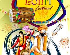 #6 for Baby First Lohri Invitation Card Design af medshimo