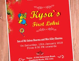 #10 for Baby First Lohri Invitation Card Design af sajueuro