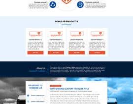 #32 for Design homepage for website trailer dealer by Oskars89